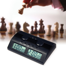Professional Electronic Digital Chess Clock Count Up Down Timer Intelligent Chess Games Entertainment Clock Timer Black For I-GO