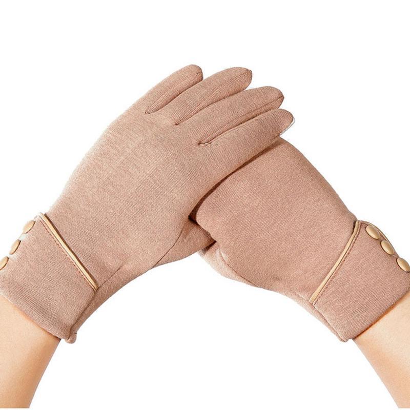 New Fashion Women Gloves Autumn Winter Cute Furry Warm Mitts Full Finger Mittens Women Outdoor Sport Female Gloves Screen Luvas