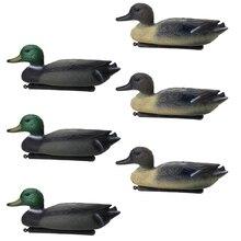 6 шт 3D Реалистичная утка охотничья приманка плавающая приманка ж/киль для охоты рыбалки