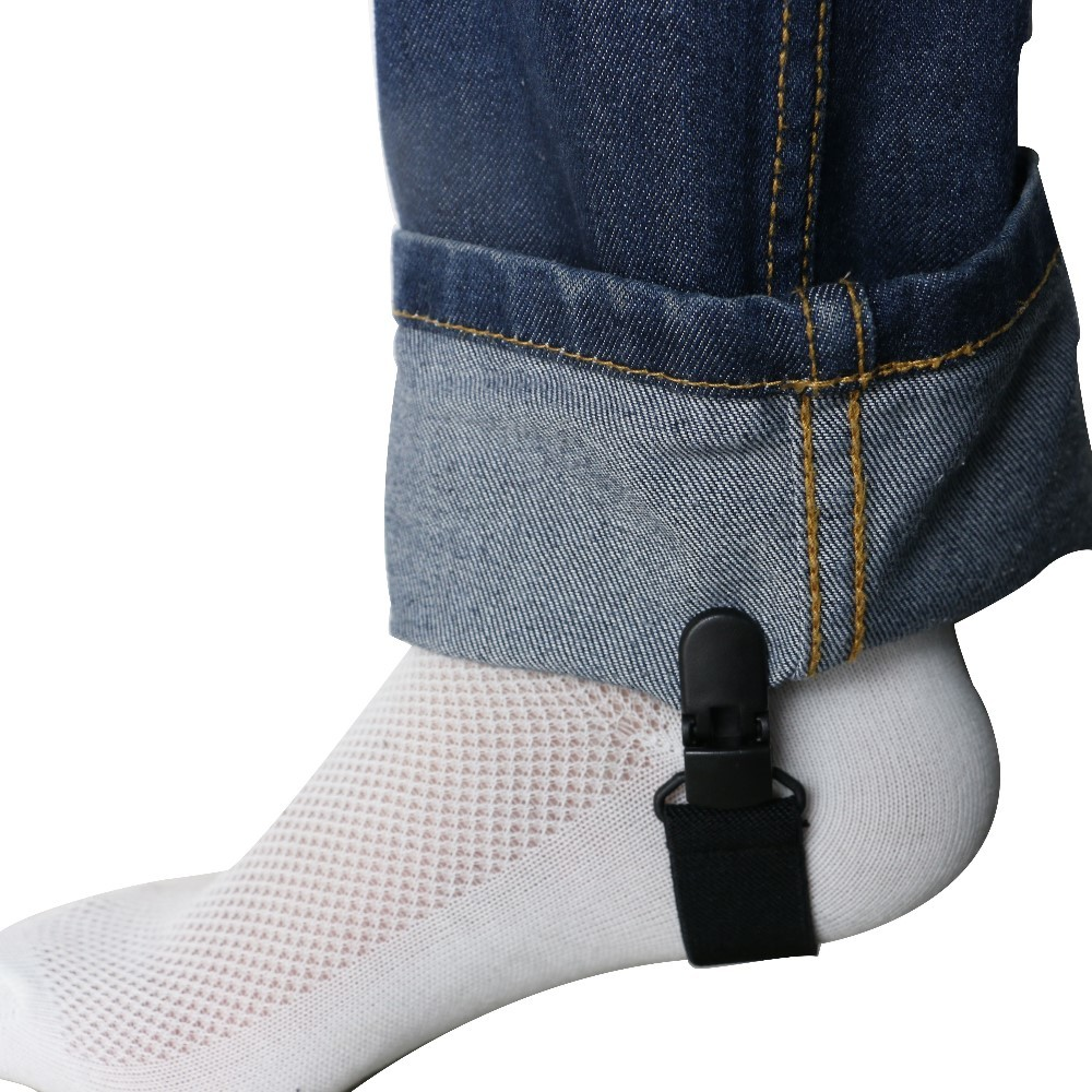 1pair Novelty Plastic Buckle Motorcycle Band Multifunctional Adjustable Strap Sock Tight Boot Suspender