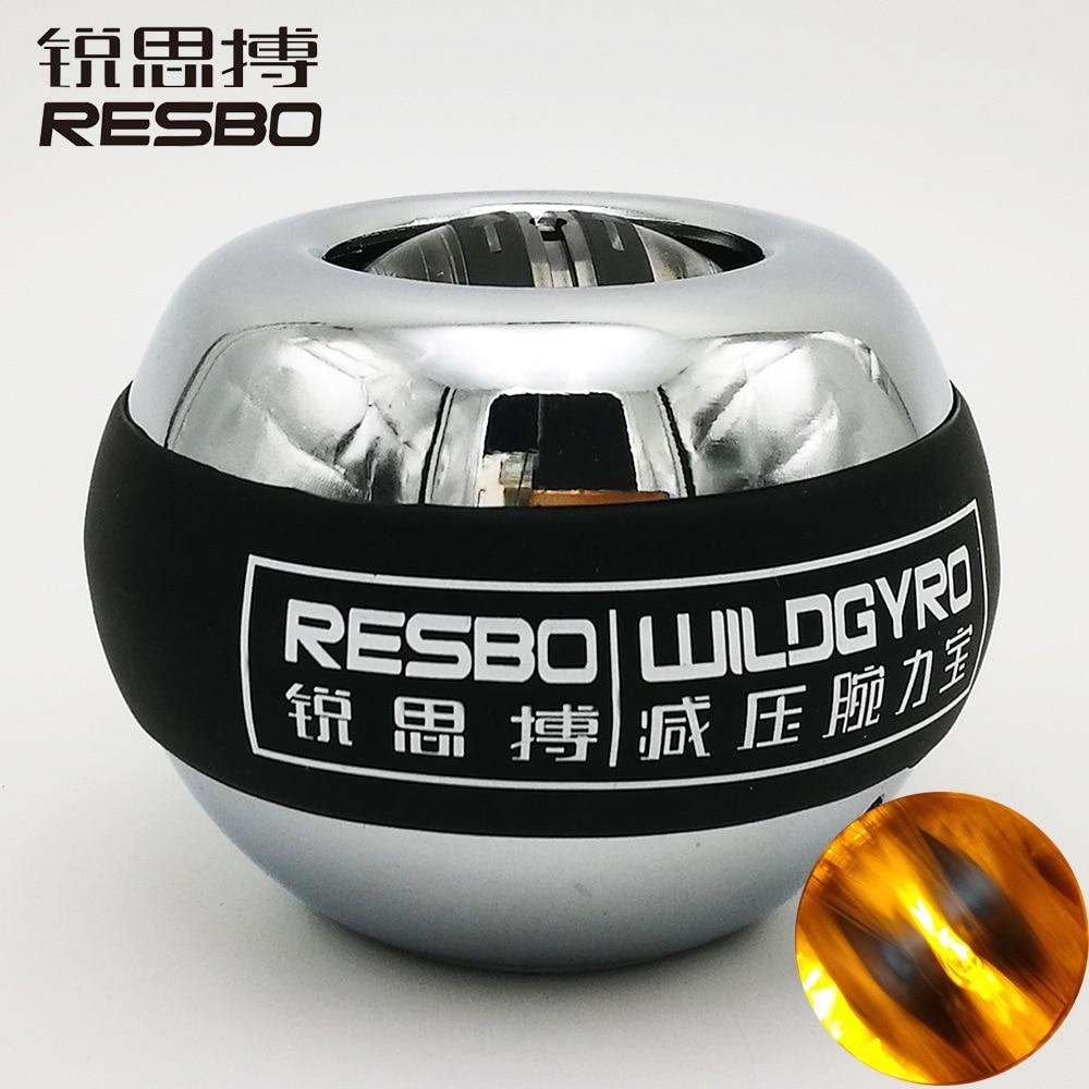 LED de arranque automático de la muñeca de la bola de entrenamiento de músculo de Metal para aliviar la presión del ejercicio del giroscopio