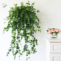 Artificial Plastic Creeper Tree Branch Vine Faux Ivy Greenery Wall Hanging Decorationfor Christmas Wedding Decor Plant Foliage