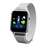 Bakeey Y6 Pro Smartwatch Men Women IP67 Waterproof HR Blood Pressure Monitor Stopwatch Music Weather Smart Watch for iOS Android