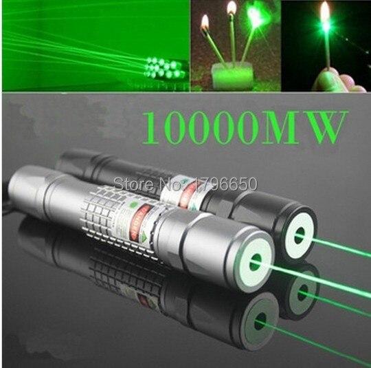 Hot! Militar 532nm de Alta Potência Ponteiros Laser Verde 100 w 100000 m Lazer Lanterna Fósforo Aceso & Light Cigarros Queimadura de Caça