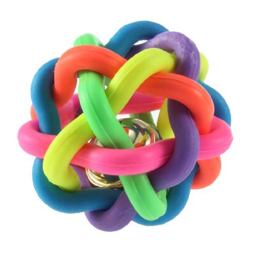 Ambitieus Hond Puppy Cat Pet Rainbow Kleurrijke Rubber Bell Sound Ball Plezier Spelen Toy