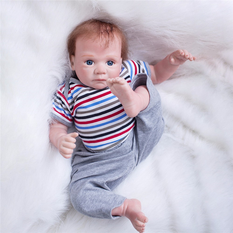 50cm Silicone Reborn Baby Doll Toys Lifelike Soft Cloth Body Newborn Babies Bebe Reborn doll Birthday Gift Girls Brinquedos50cm Silicone Reborn Baby Doll Toys Lifelike Soft Cloth Body Newborn Babies Bebe Reborn doll Birthday Gift Girls Brinquedos