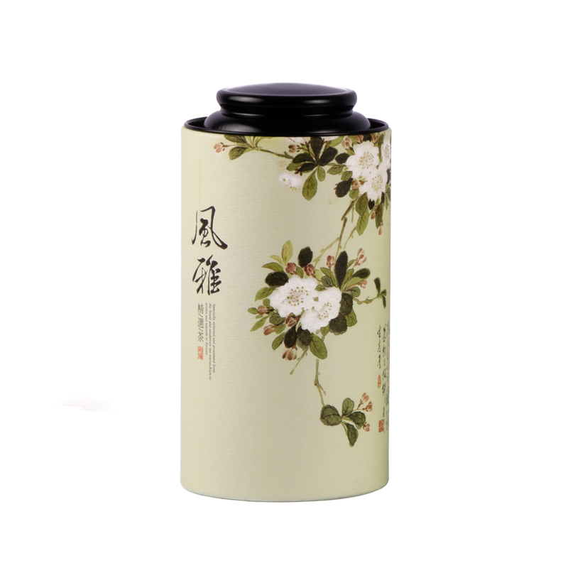 Xin Jia Yi Packaging Paper Gift Box Black Tea Compartments Plexiglass  Multiple Compartments Plexiglass Paper Box Gold Paper Can