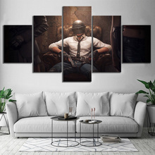 Купить с кэшбэком 5 Piece Pubg Playerunknowns Battlegrounds Game Poster Artwork Wall Painting on Canvas for Home Decor