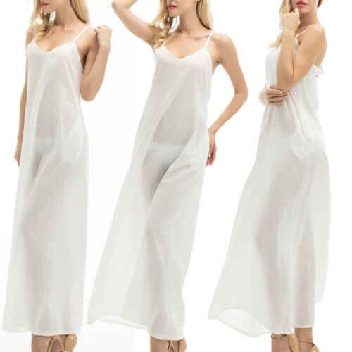 2019 여름 여성 boho 휴일 strappy 화이트 맥시 비치 sundress 파티 롱 드레스 캐주얼 드레스