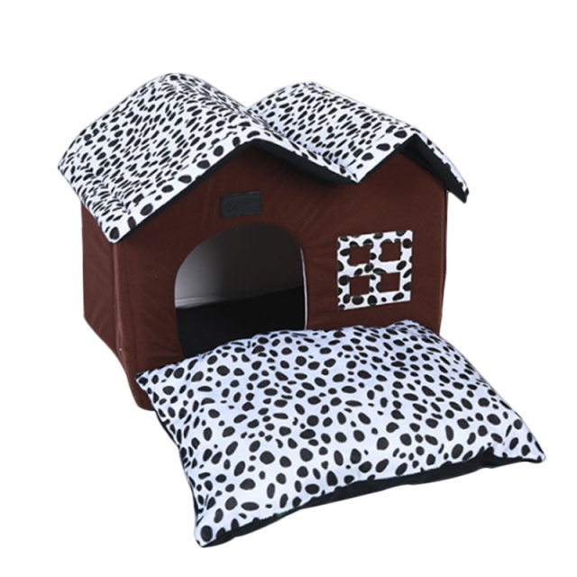 Pet House Folding Bed with Mat Soft Winter Dog Puppy