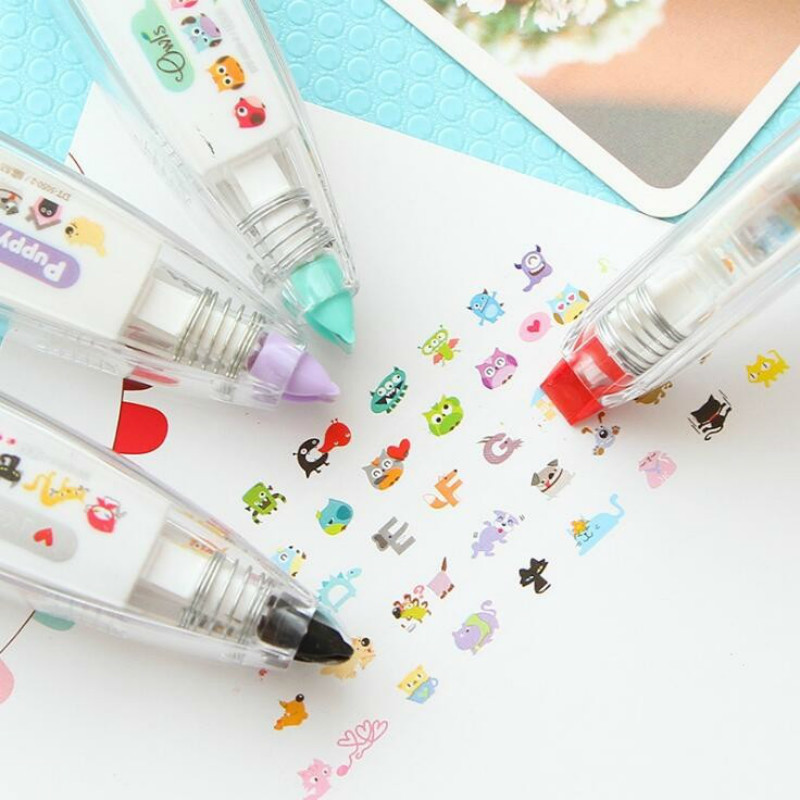 1PCS Cartoon DIY Stationery Correction Tape Korektor School Supplies Papeleria Cinta Correctora Material Escolar Kawaii 00202