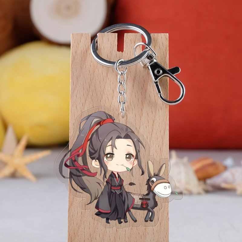 Anime Mo Dao Zu Shi Sleutelhanger Mode Cartoon Grootmeester van Demonische Lan Wangji Wei Wuxian Auto Sleutelhouder Ketting Hanger sieraden