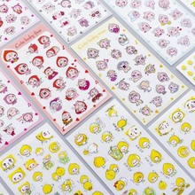 Color cartoon Various animals series Cute Diary Sticky Stickers Scrapbooking Flakes Office Stationery School Supplies 6Sheets