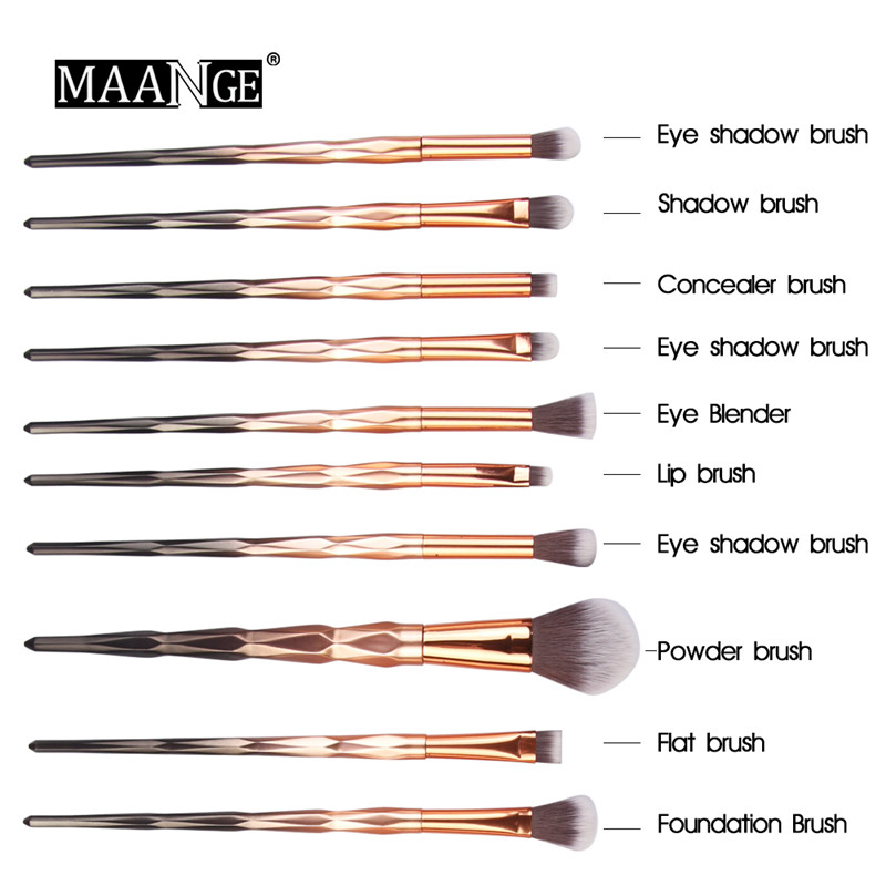 20Pcs Diamond Makeup Brushes Set Powder Foundation Blush Blending Eye Shadow Lip Cosmetic Beauty Make Up Brush Tools Kit