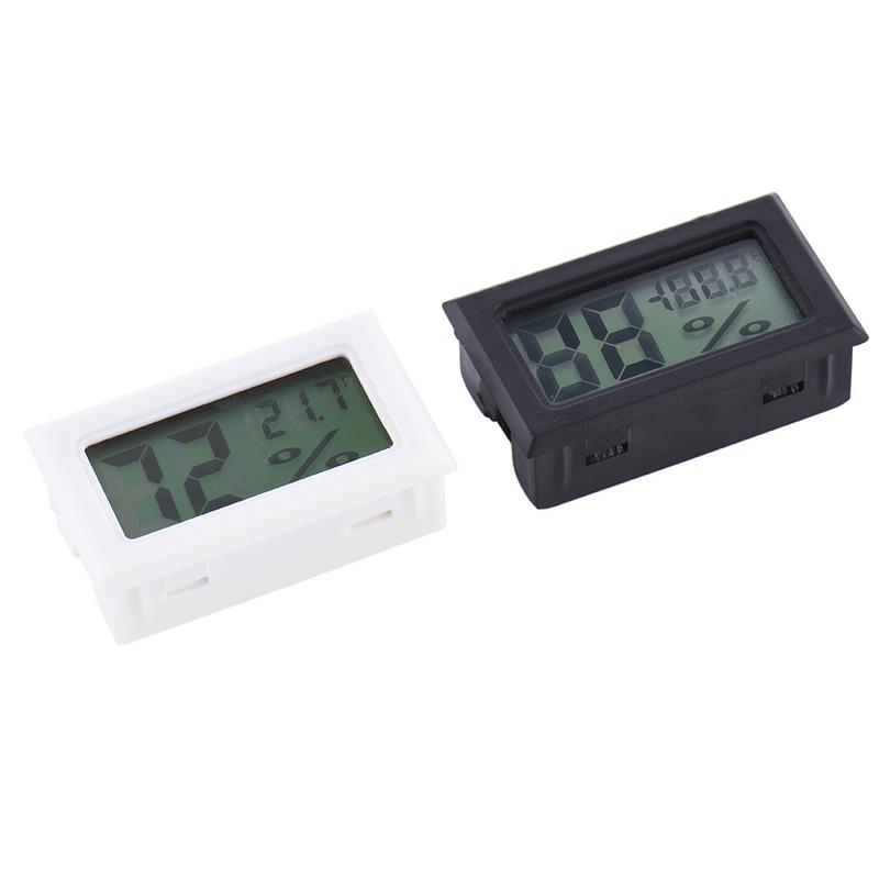 Image 5 - Mini Black Digital LCD Temperature Humidity Indoor Room Humidity Meter Thermometer Hygrometer Temperature Sensor Humidity-in Temperature Gauges from Home & Garden