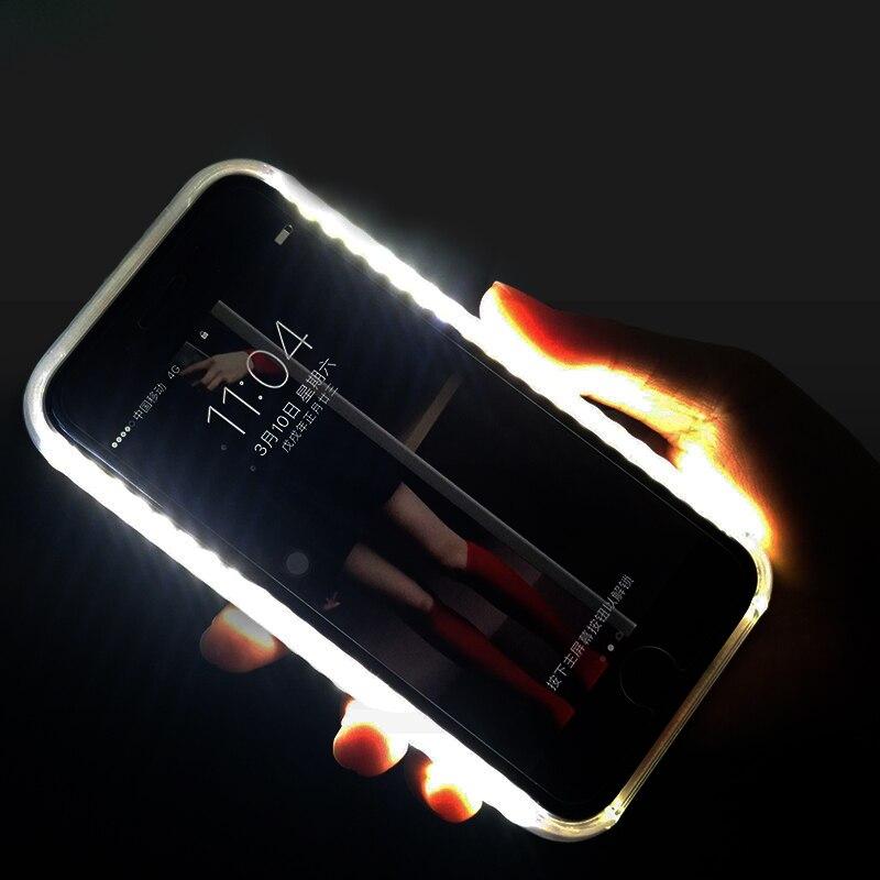 eac64e205a9 Cheap Funda para iPhone X 7 8 Plus luz para Selfie Flash funda de teléfono  luz