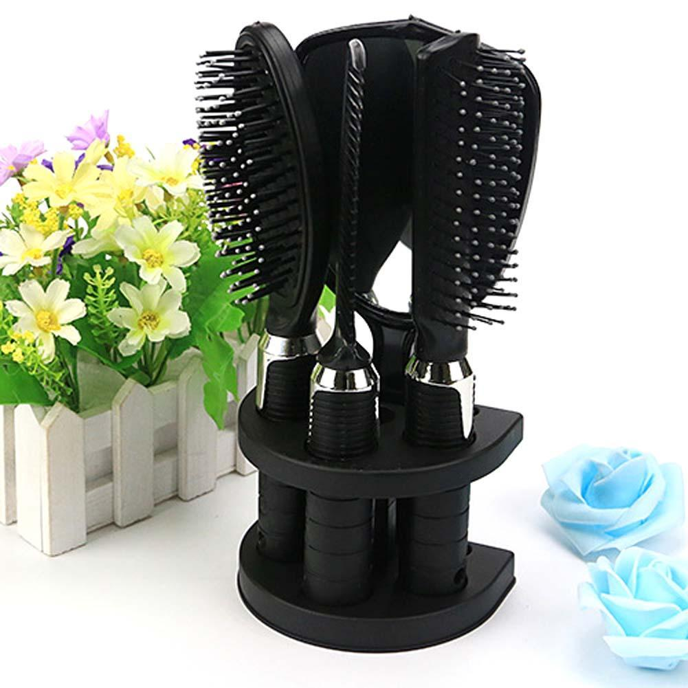 4Pcs/set Travel Comb Hair Comb Set Hair Brush Styling Tools Woman Hair Brush Massage Comb Mirror Set With Mirror And Support