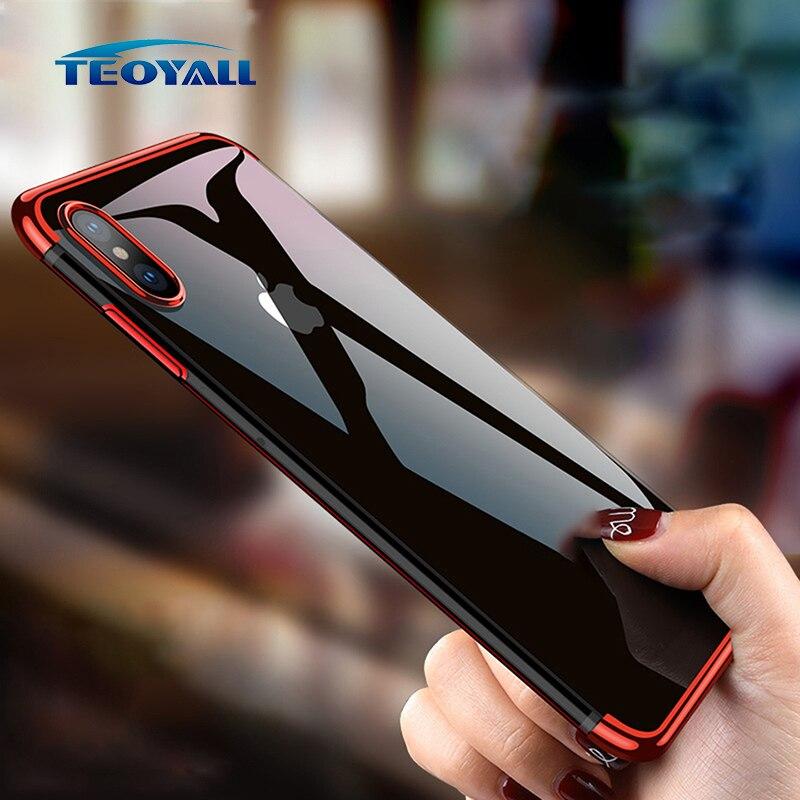 TeoYall блестящие чехлы для iPhone XS Max чехол XS XR X 10 чехол силиконовый для Apple iPhoneXS XSmax Чехлы для мангала прозрачный мягкий защитный чехол из термопл...