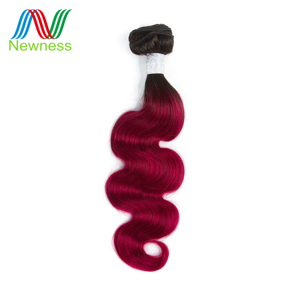 Human Hair Weaves Competent Newness Pre-colored Ombre T1b/bug Color Body Wave Hair Bundles 1/3/4 Bundles Brazilian Human Hair Weave Non-remy Hair Extensions