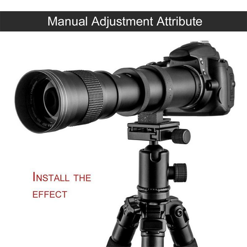 420-800mm F/8.3-16 Super Téléobjectif Zoom Manuel Lentille T-Mont Pour DSLR SLR caméras Canon EOS DSLR 600D 700D 650D 750D 1100D 1200D - 5