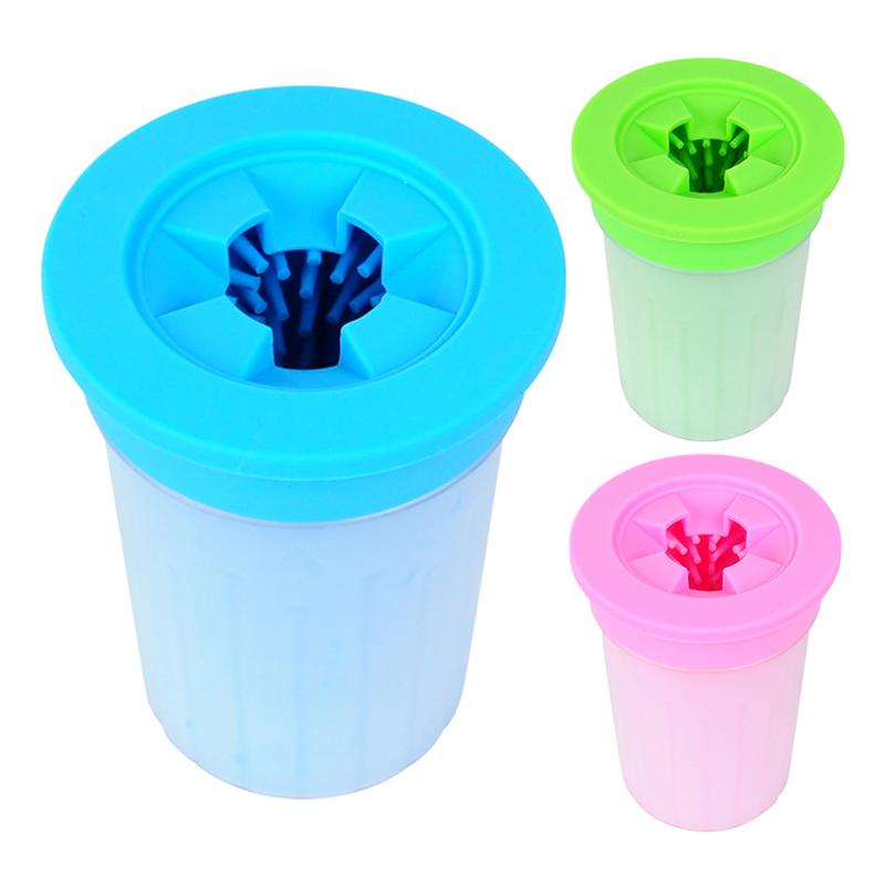 Hot Sale Pet Cats Dogs Foot Clean Wash Cup For Dogs Cats Cleaning Tool Soft Plastic Washing Brush Paw Washer Pet Accessories