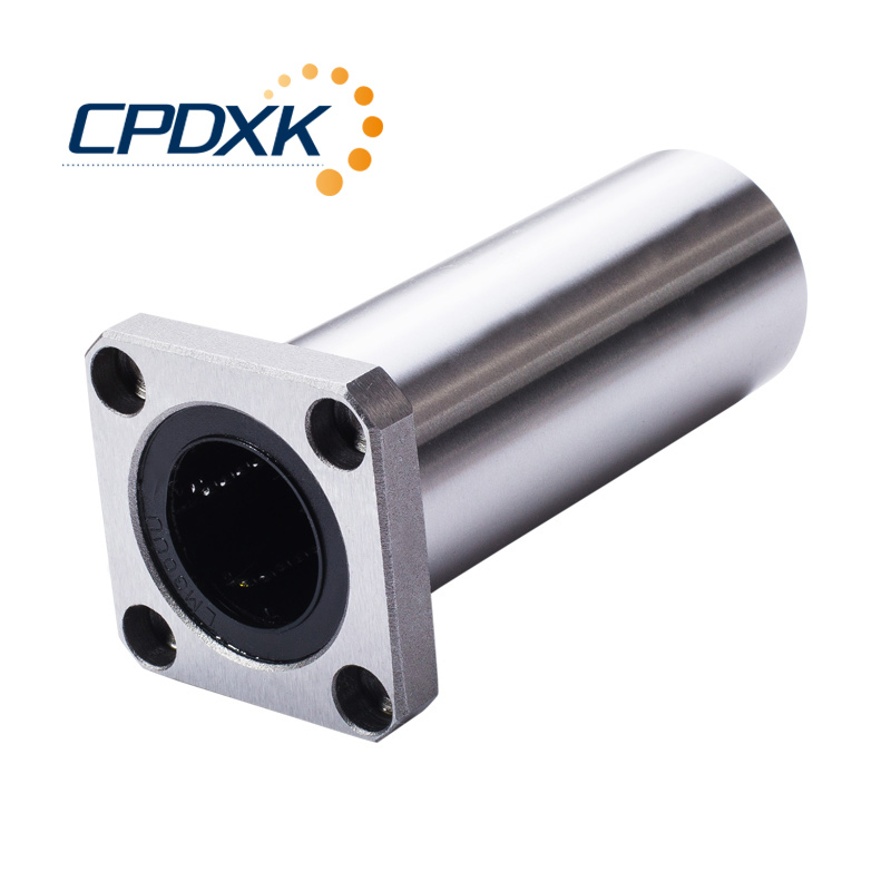 <font><b>LMK10LUU</b></font> Square flange type long flange mount linear bearing flanged linear ball bearings flange mounted linear ball bearing image