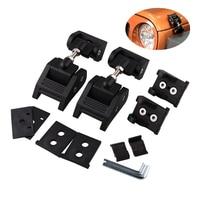 Hood Lock Stainless Steel Aluminum Cover Lock Buckle Kit For 2007-2018 Jeep Wrangler