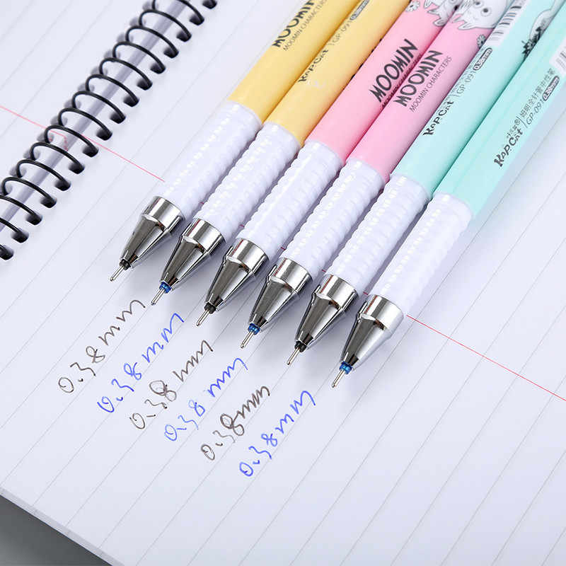 0.38mm Kawaii מחיק ג 'ל עט קריקטורה חמוד בעלי החיים רולר כדור עט עם שחור/כחול דיו מכתבים ולמשרד ספקי