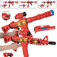 DIY магнитные строительные блоки игрушечный пистолет звуковой светильник музыкальное оружие сборка игрушка головоломка пистолет со светодиодный мигающий светильник s