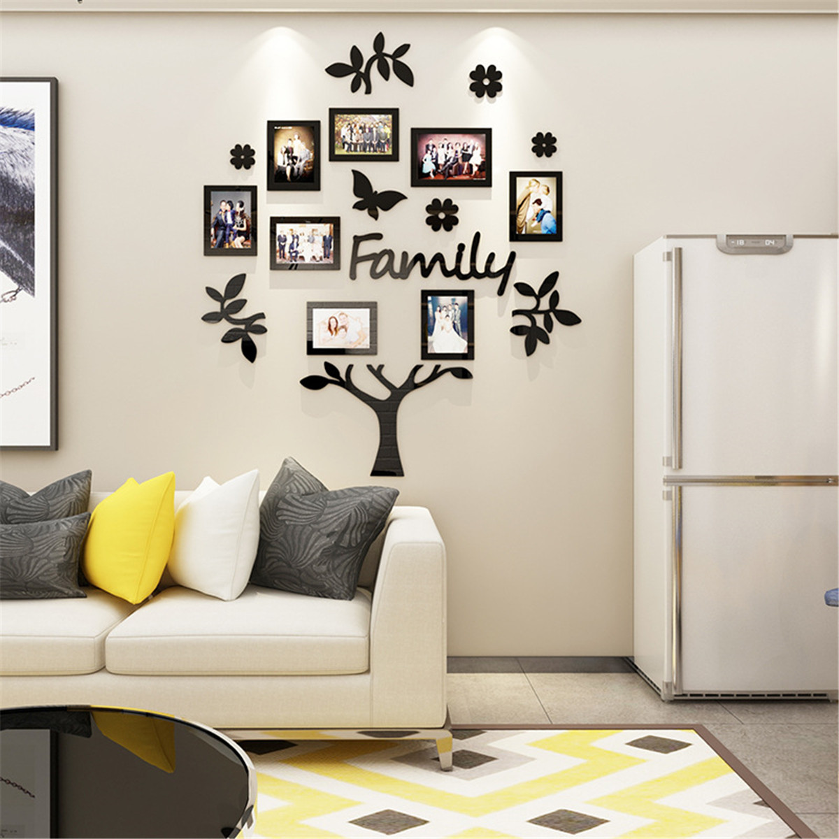 3D Acrylic Photo Frames Family Tree Photo Frame Removable