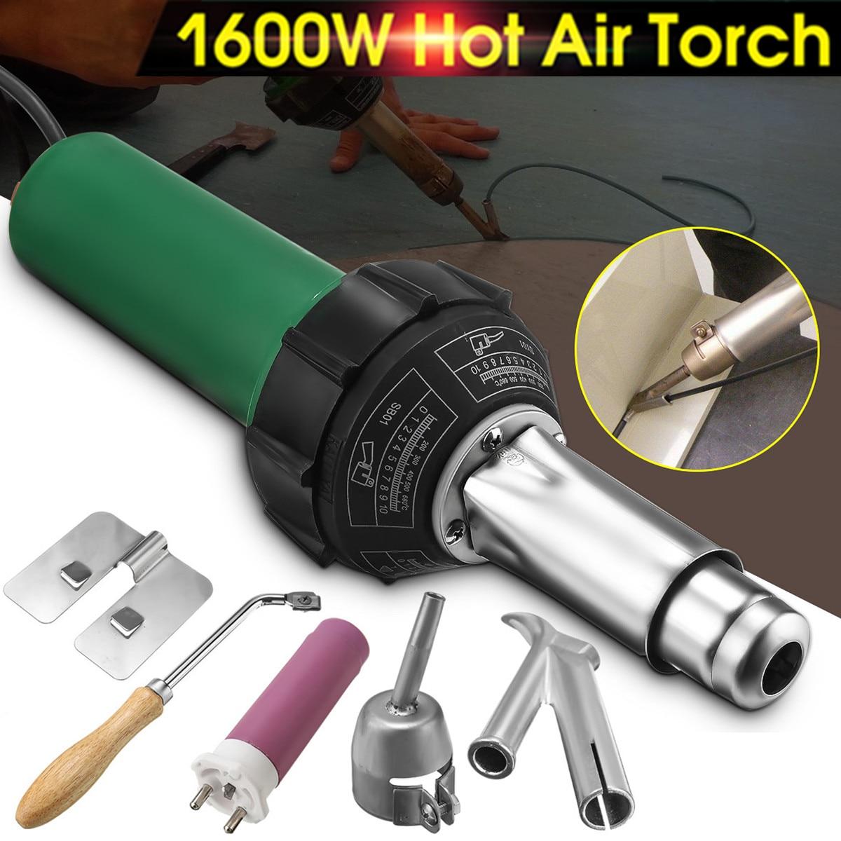 1600 W 50/60 HZ 220 V Eletrônico Armas de Tocha De Soldagem De Plástico de Ar Quente com Bico de Aquecimento Núcleo Chapéu boca Kit para Máquina De Solda