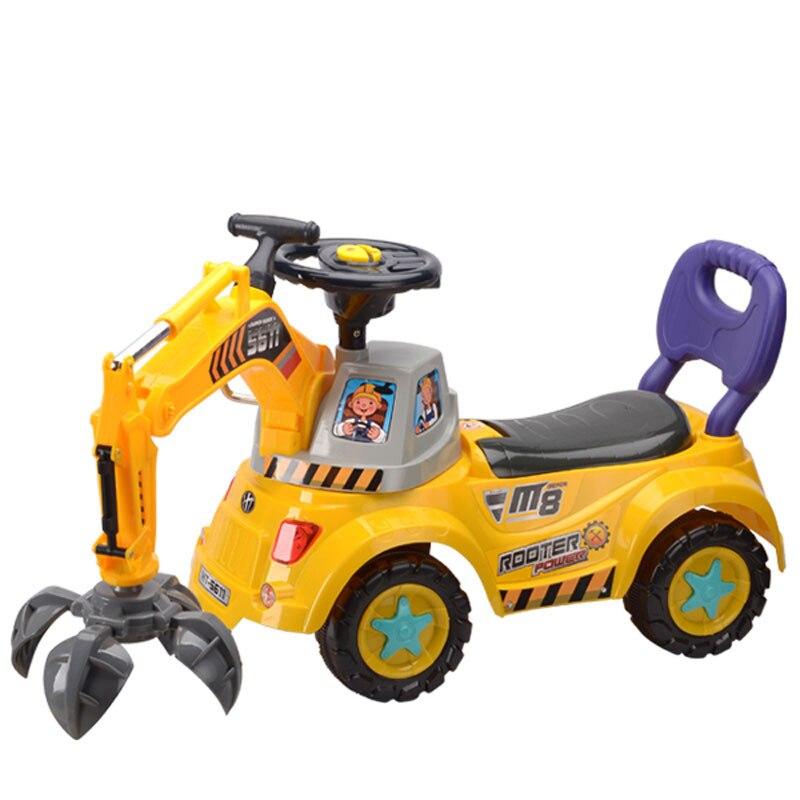 Grande voiture électrique bébé avec lumières musique bébé marcheur conducteurs voiture d'ingénierie pour les enfants monter sur des jouets enfants cadeau