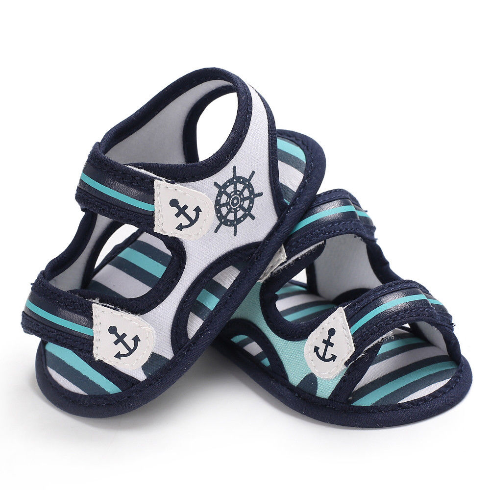 Summer Baby Boy Hook Shoes Canvas Toddler Sneaker Anti-Slip Infant First Walkers