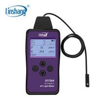 Linshang LS126A misuratore di luce UV irradiazione ultravioletta per UVA LED sorgente luminosa della macchina polimerizzante sensore sonda ultra piccola da 7mm