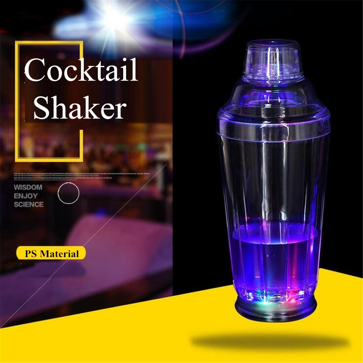 1pcs Light Up Led Cocktail Shakers Bar Tools Barware Home Party Supplies Cocktail Shaker Maker Mixer Muddler Bar Strainer Kitchen,dining & Bar Barware