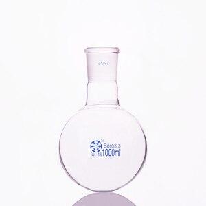 Image 1 - 단일 표준 입 둥근 바닥 플라스크, 용량 1000 ml 및 조인트 45/50, 단일 목 둥근 플라스크