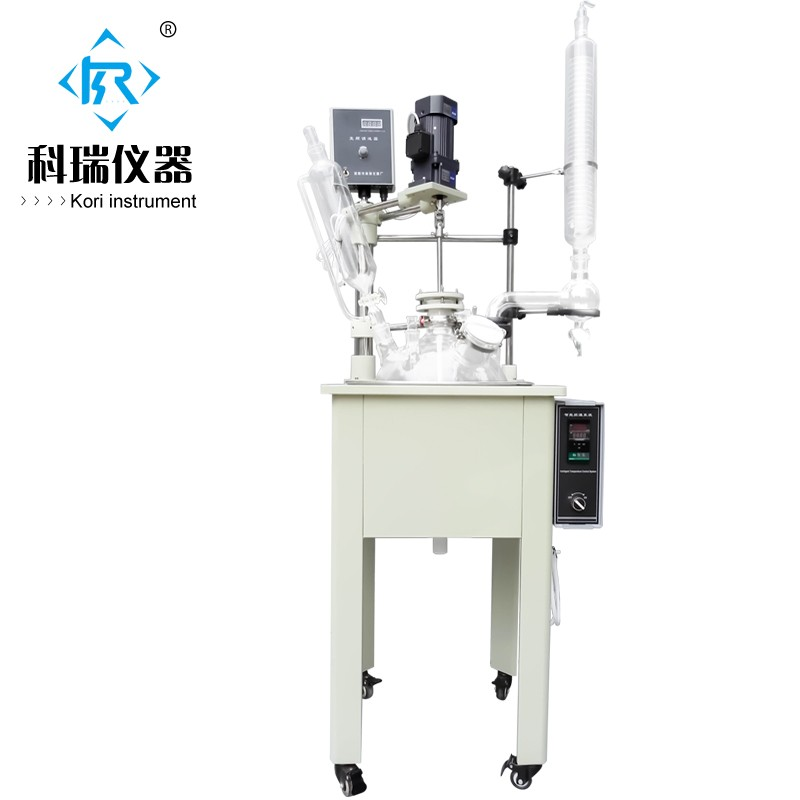 Single Layer Laboratory Glass Reactors 10L china reactor supplier For Chemical Process/Glass Bio reactor