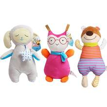 Baby Girls Cotton Animal Plush Doll Baby plush doll baby bell toy 32cm/12.6inch Toys Can Bite Comfort Help Sleep(China)