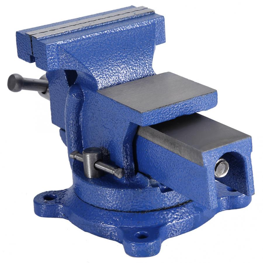 mini clamp bench Bench Vise Heavy Duty Tabletop Clamp with Anvil Swivel Locking Base table vise
