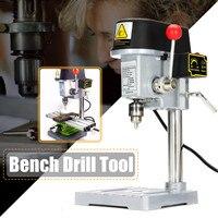 Mini wiertarka 240W dla wiertarka stołowa zmienna prędkość wiercenia Chuck 0.6 6.5mm dla DIY drewna Metal elektronarzędzia w Wiertarki od Narzędzia na