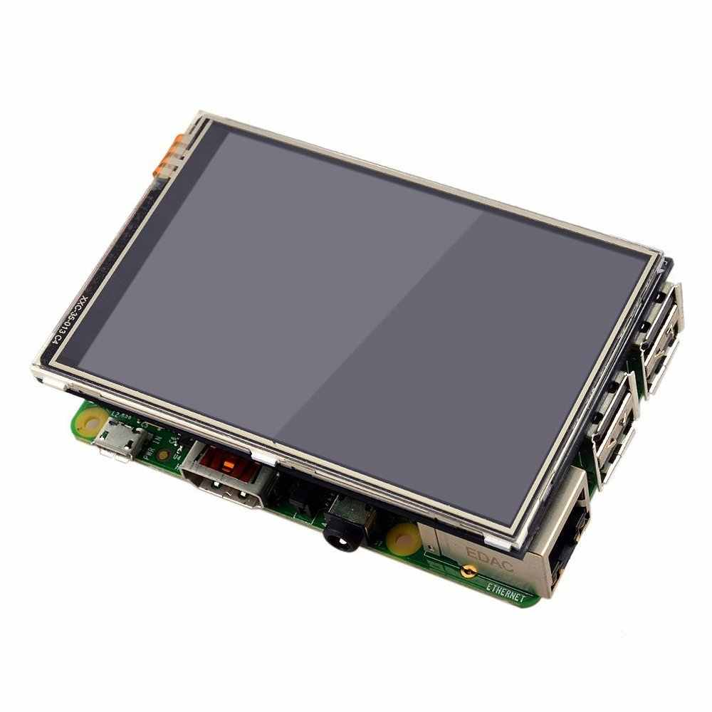 """Aokin nuevo Monitor de pantalla LCD de pantalla táctil de 3,5 """"con soporte acrílico transparente para Raspberry Pi Modelo 3 2 B"""