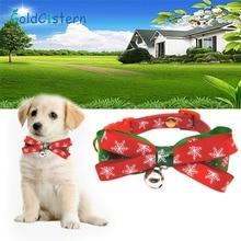 Рождественская серия бант для питомца ошейник с колокольчиками галстук-бабочка для кота товары для домашних животных 2 цвета