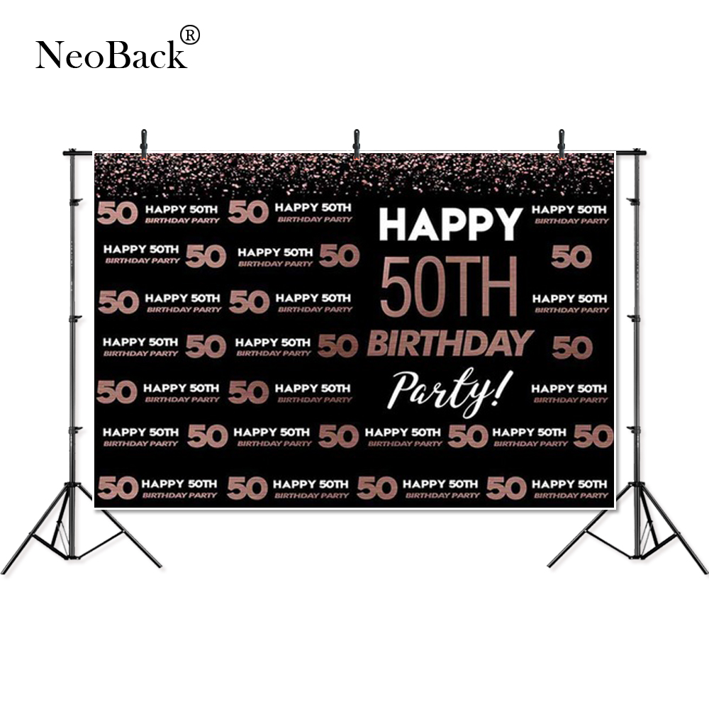 thin vinyl <font><b>happy</b></font> <font><b>50th</b></font> <font><b>birthday</b></font> glitter party celebration Photography Studio Backgrounds Customized Photographic photo <font><b>Backdrops</b></font> image