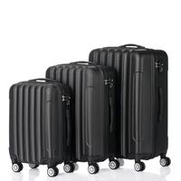 3 in 1 Multifunctional Large Capacity Traveling Storage Suitcase Dirt resistant High Toughness Suitcases Black Easy To Clean