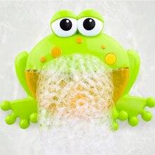 Для ванной ванны Детские Банный пузырь для мыльных пузырей машина музыкальный большие лягушки автоматический устрой