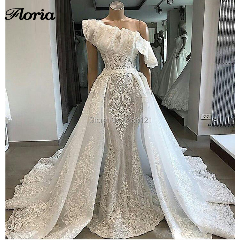 Us 20075 27 Off2019 Vestido De Noiva Dubai Lace Wedding Dresses Moroccan Kaftan Islamic Arabic Couture Celebrity Bridal Gowns With Detachable In