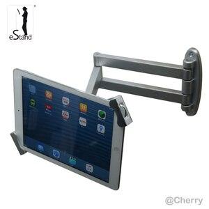 Tablet przegubowe bezpieczeństwa do montażu na ścianie wyświetlacz blokowania wsparcie dla Samsung Galaxy Tab/surface pro 7-13 cal uniwersalny uchwyt