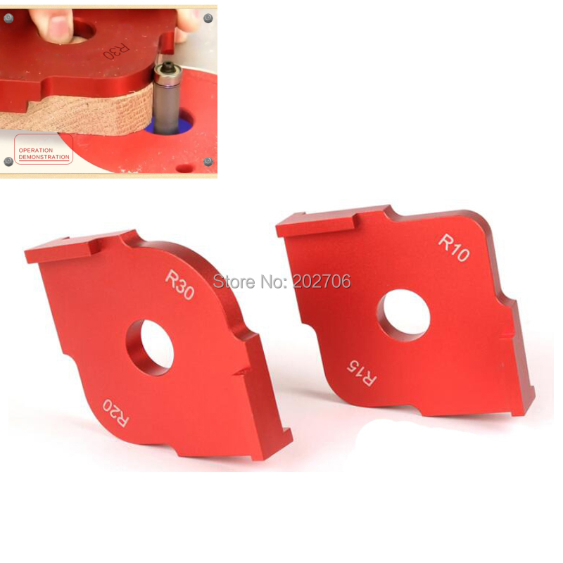 Woodworking Radius Quick-Jig Router Table Round Corner Template Trimming R5 R10 R15 R20 R25 R30//T15 T20 T25 T30,G
