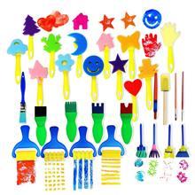 30 pçs crianças esponja pincéis de pintura ferramentas de desenho para crianças crianças pintura precoce artes artesanato diy óleo acrílico aquarela