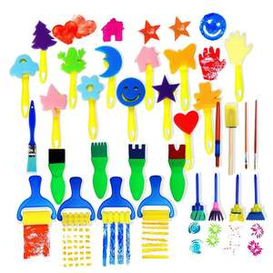 Hot sale 30pcs Children Sponge Paint Brushes Drawing Tools for Children Early Painting Arts Crafts DIY